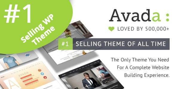 Avada Freelancer company - WordPress theme - installation and customization