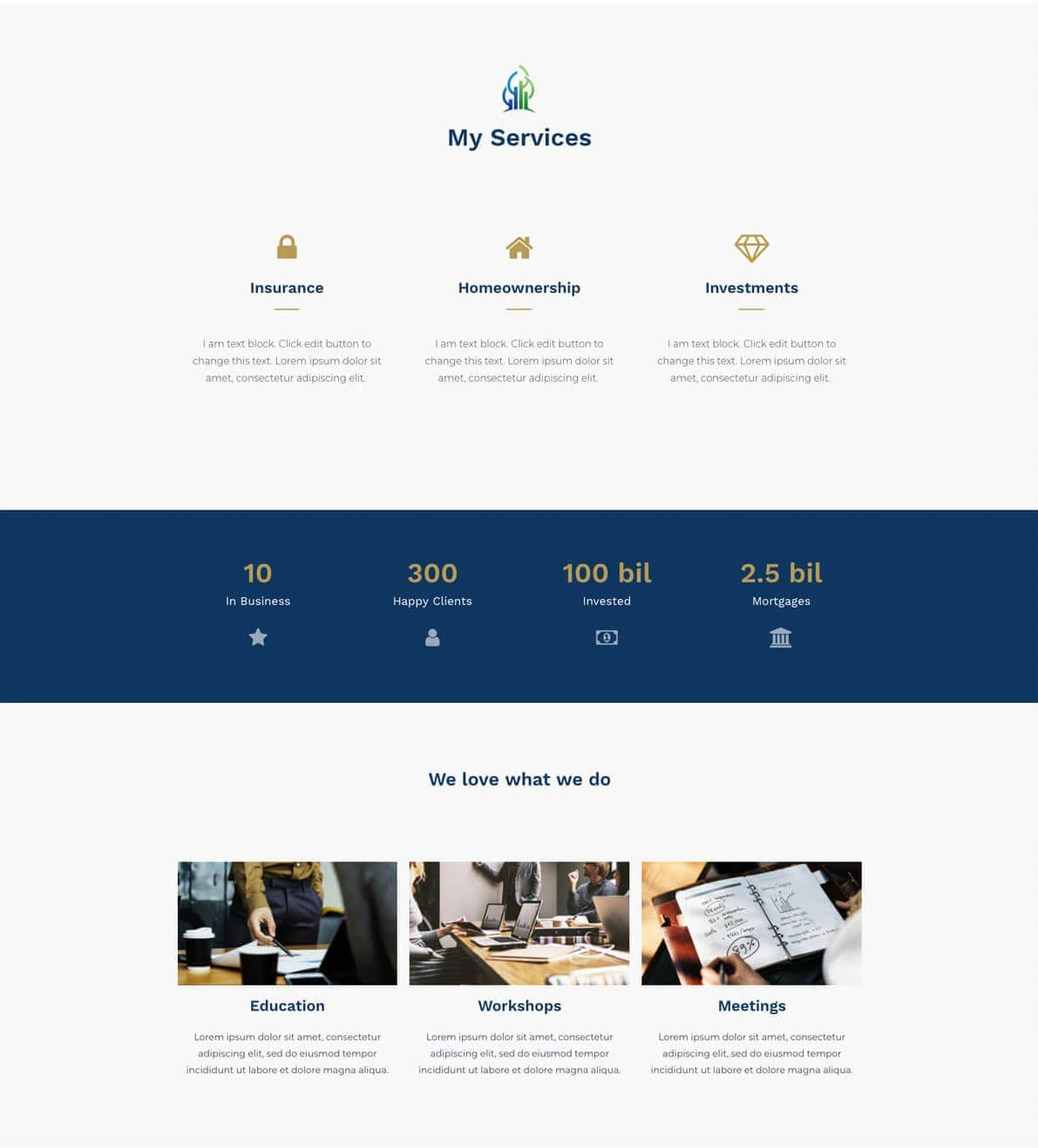 Financial advisor website preview gallery 2