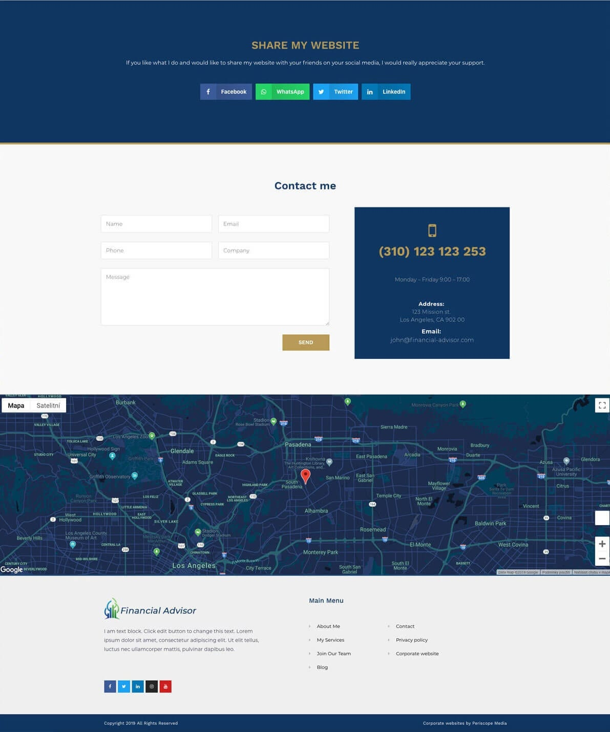 Financial advisor website preview gallery 4