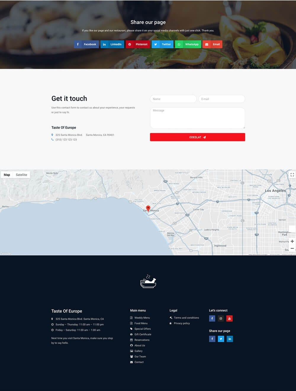 Restaurant website preview 6