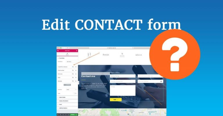Edit contact form on your website