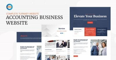 Accounting business website - complete turnkey website