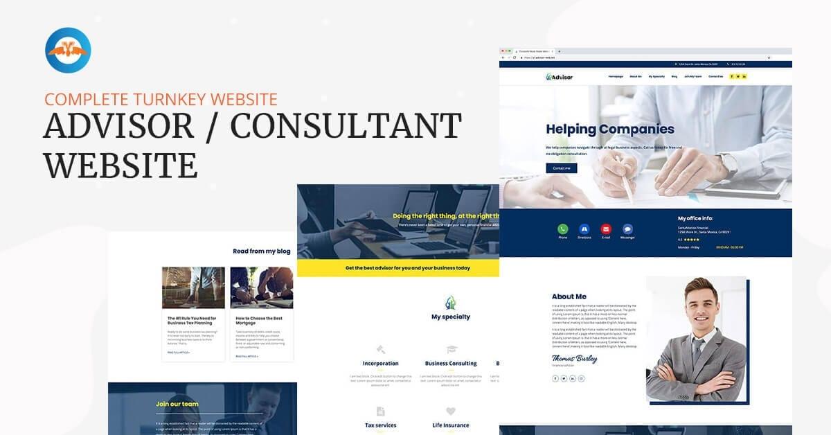 Kompletní webová stránka pro finančního poradce