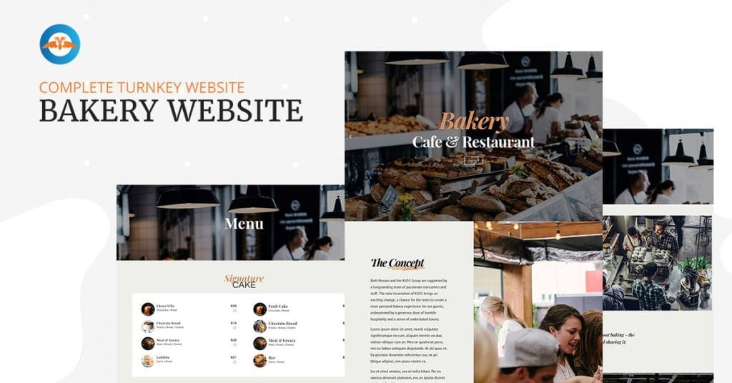 Best Bakery, Cafe & Restaurant WordPress website template design