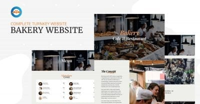 Best Bakery, Cafe & Restaurant WordPress website template design