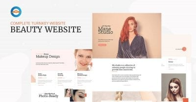 Complete turnkey beauty business website