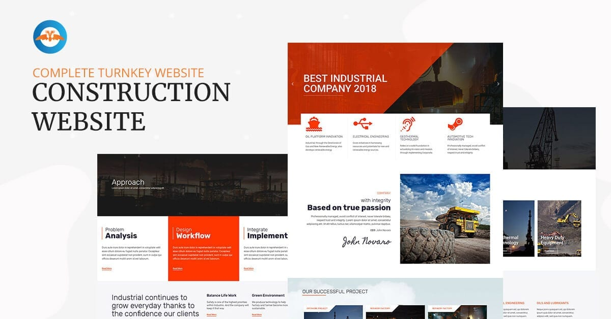 Complete turnkey website - Construction website
