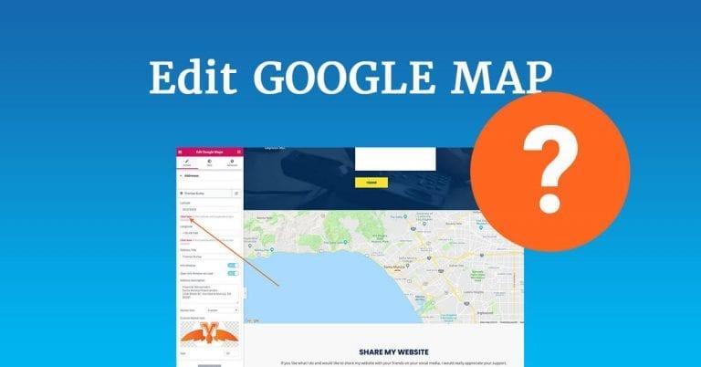 Edit map setting in WordPress