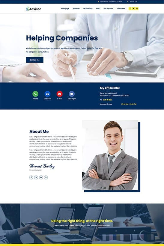 Financial advisor - consultant website