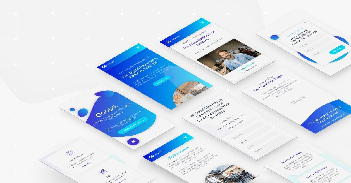 Digital agency website - responsive layout