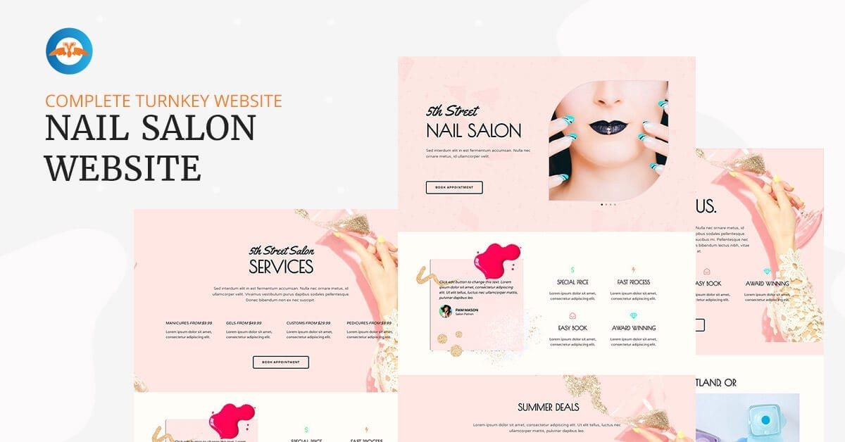 Complate turnkey Nail Salon website