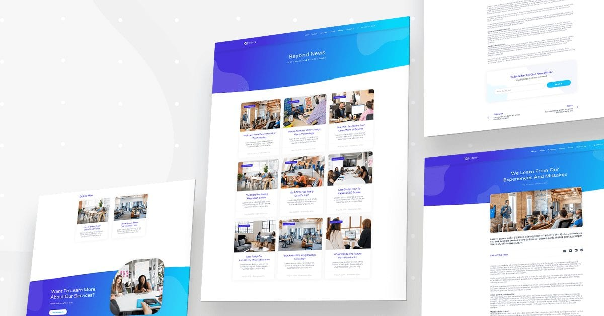 Digital agency - news and blog layout
