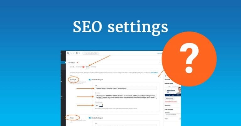 Edit SEO settings for pages and posts in WordPress