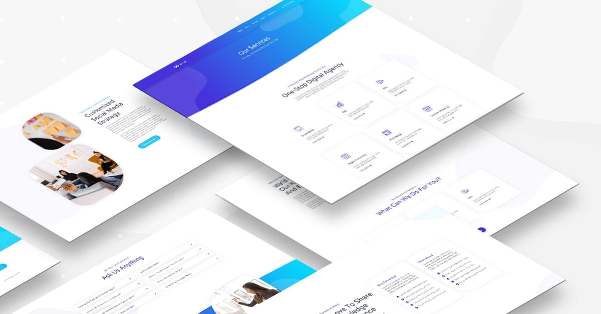 Digital agency - services page