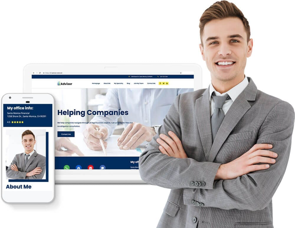 Turnkey financial consultant website