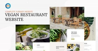Complete turnkey vegan restaurant website