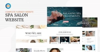 Spa salon beauty website - featured image