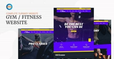Gym Fitness center business website - complete ready made website