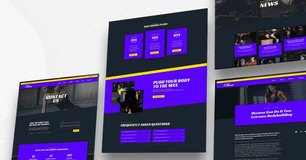Gym Personal Fitness Trainer website theme