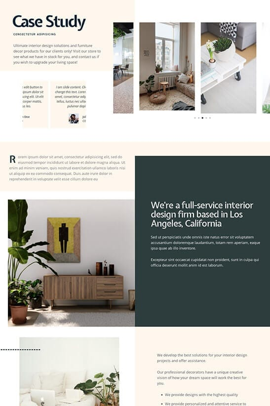 Best Interior Decorator Business Website Theme 195 Installed