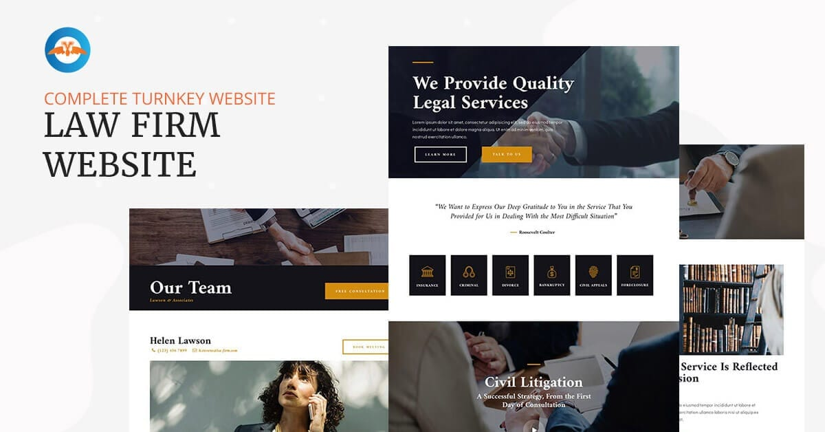 Law firm business website