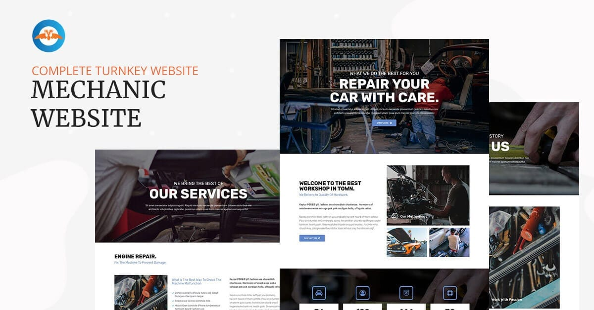 Mechanic / Car repair shop website