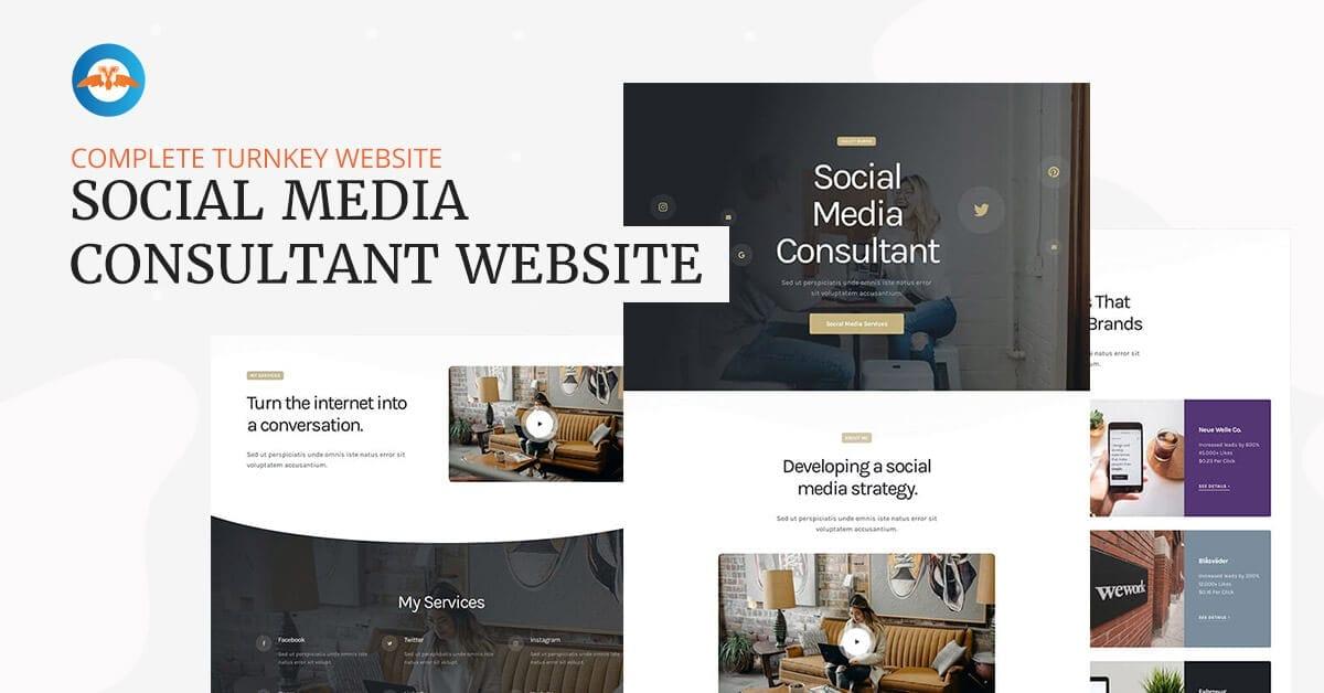 Social media consultant website