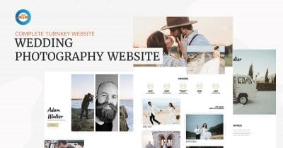 Wedding photography business website