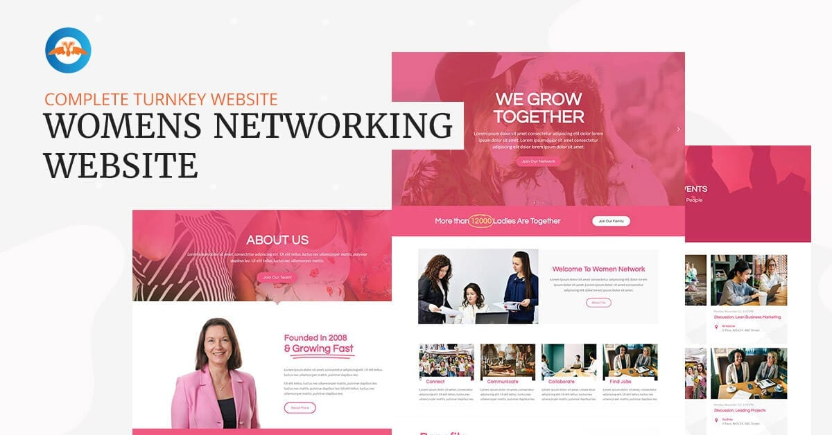 Women's networking business website