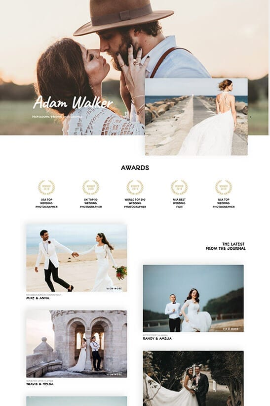 Wedding Photography Website - Home 1