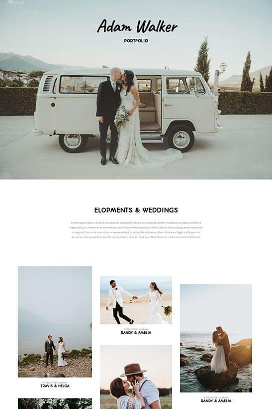 Wedding Photography Website - Portfolio 1