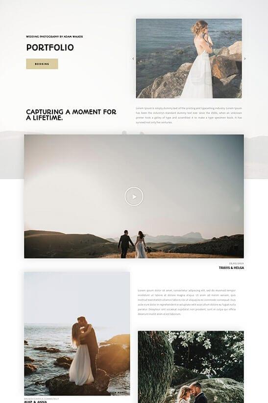 Wedding Photography Website - Portfolio 2