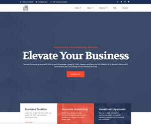 Accounting business website