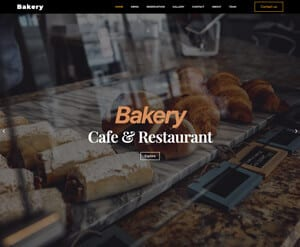 Bakery business website