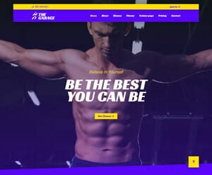 Gym Fitness website