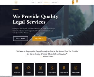 Law - Legal services website