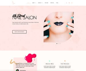 Nail salon business website