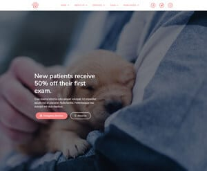 Veterinary business website