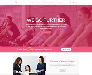 Women Networking website