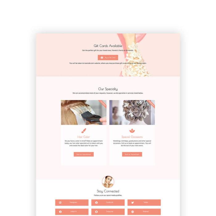 Beauty Salon Elementor website template